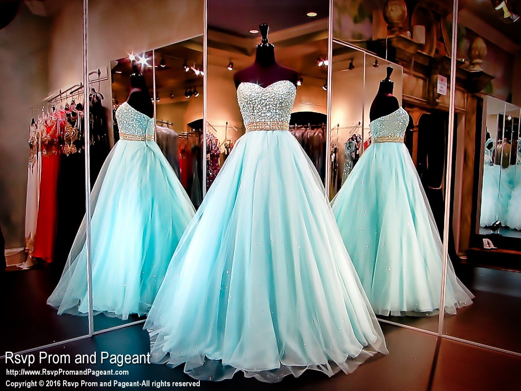 Plus size Mint Ball Gown with Pearls Encrusted Bodice | Prom Dress ...