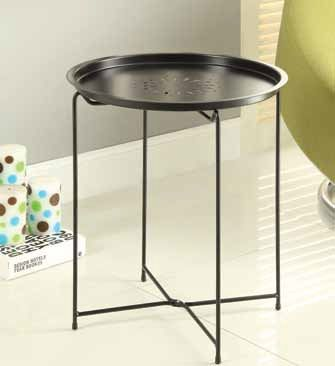 Contemporary Black Snack Table