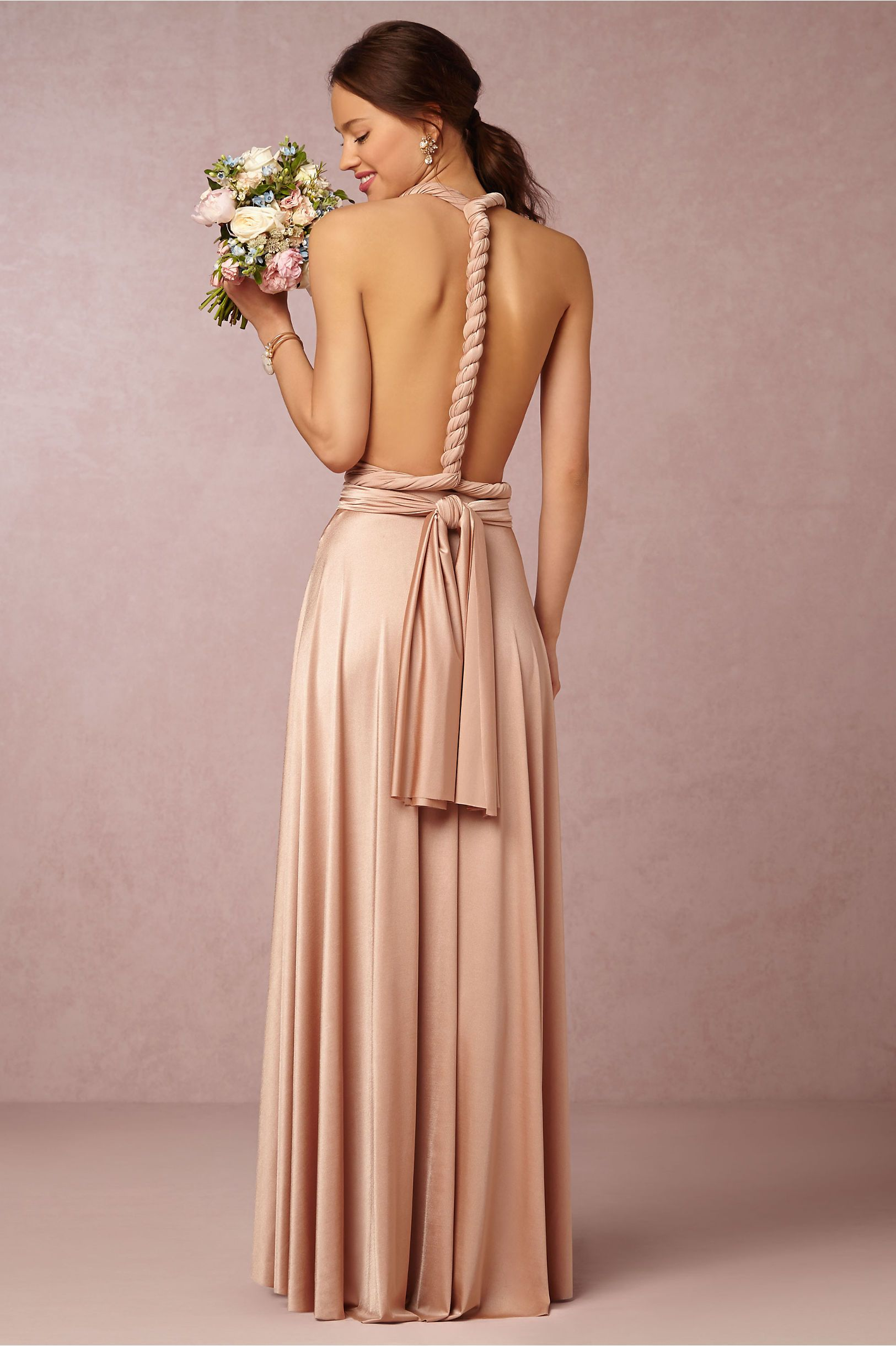 I love the back of this dress perfect for a bridesmaid dress