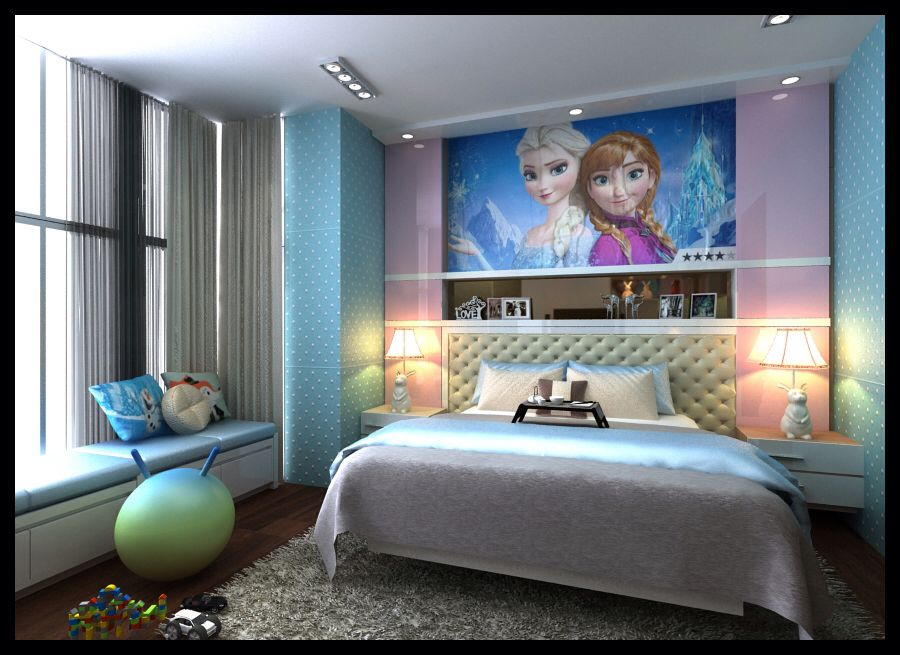 Best Modern Girl Bedroom With Scenery Of Frozen Movie With 640 x 480