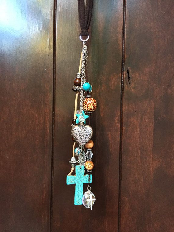 Rear View Mirror Charm Boho Hippie Cowgirl Car by TheBadaBling