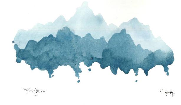 watercolor | mountain lyfe doe
