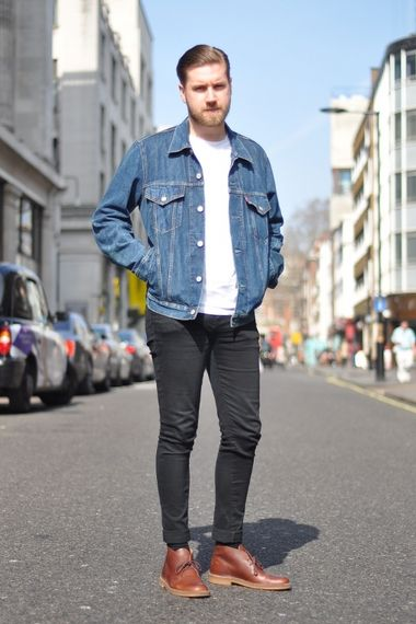 jeans jacket men fashion | The Denim Trucker Jacket | Pinterest ...
