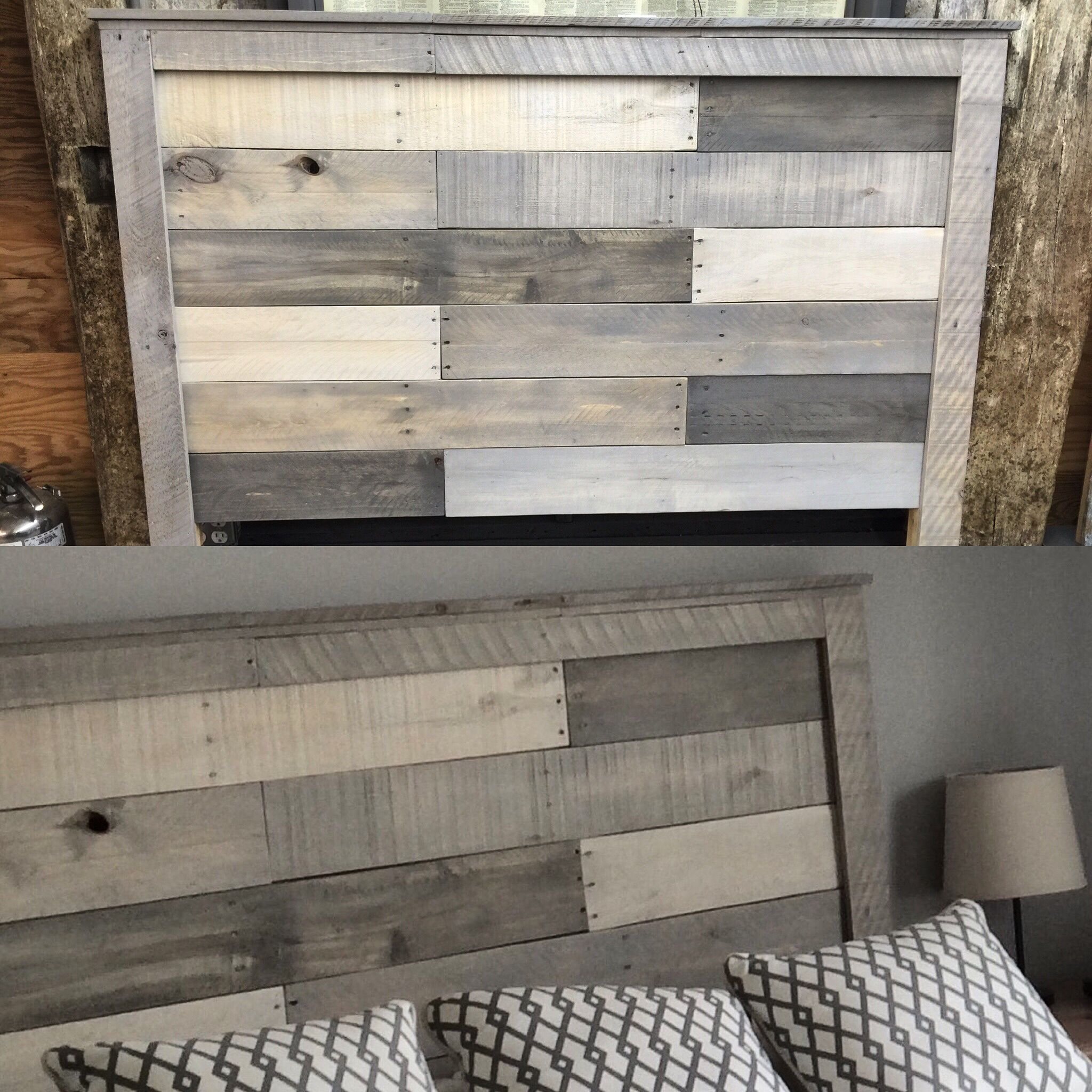queen pallet headboard with washes of country chic rocky