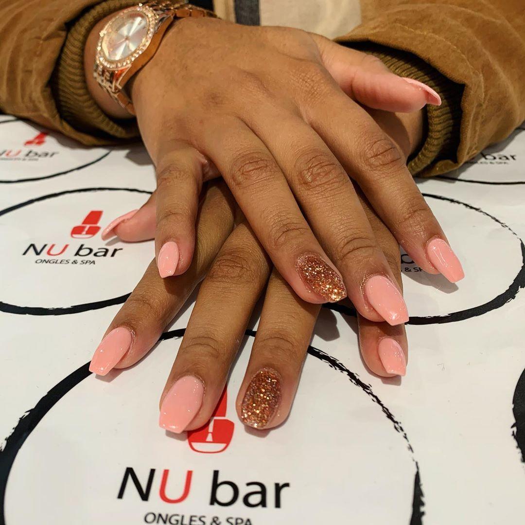 Roségold 🧡✨ • • #nalfie #rosegold #rose #gold #pink #halloween    – Nails