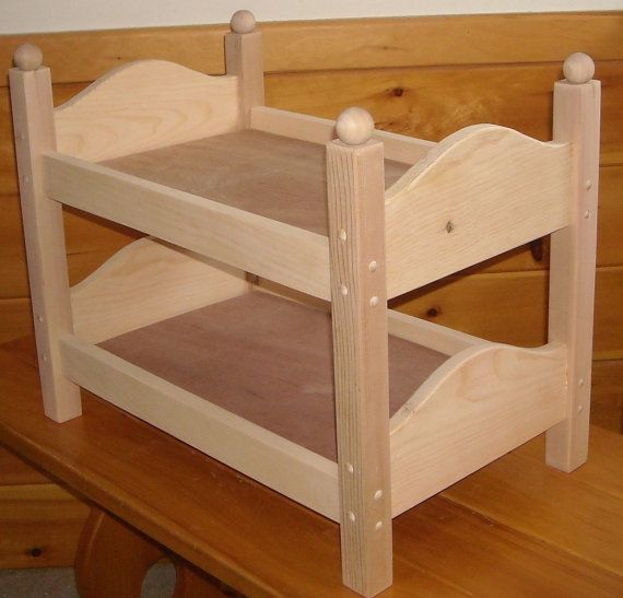 Handmade Bunk Bed For 18 Inch Doll Jouet Bois Lit
