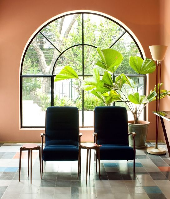 Lobby Chairs Casa Fayette in Guadalajara Mexico