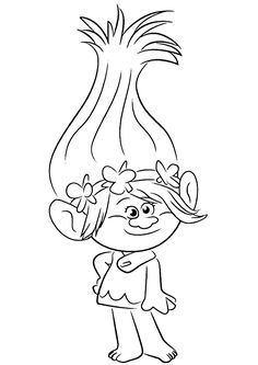 Trolls Coloring pages to download and print for free ...