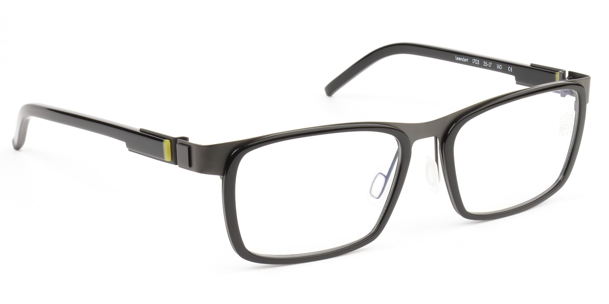 2edb7ba1bde8 De Stijl Holland 1924 eyewear  men eyeglasses frame LEENDERT in black metal  and plastic combo