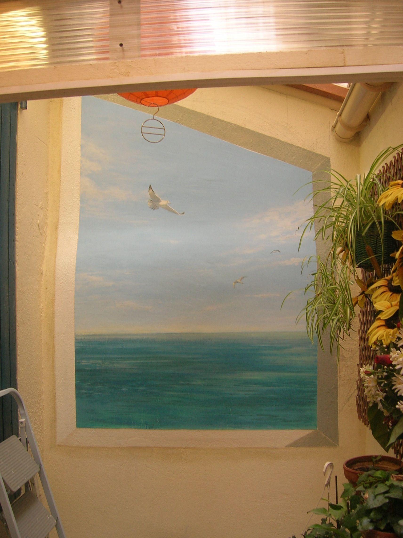 Trompes Lu0027oeil Et Peinture Décorative, Peinture à La Chaux, Fausse Fenêtre