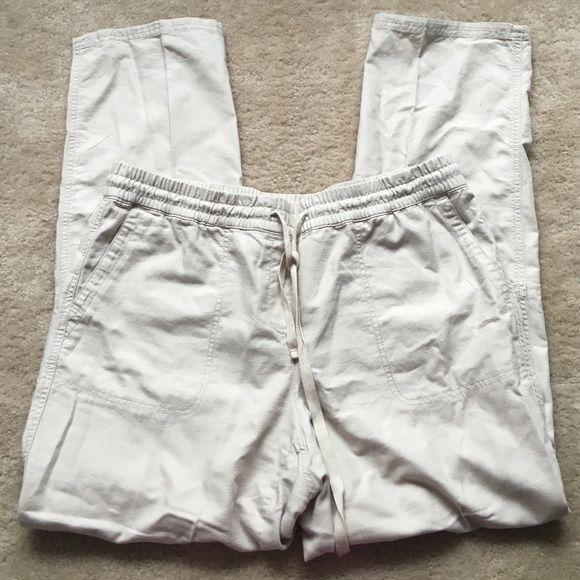 Linen pants! Perfect for summer! Size 12! Excellent condition! 88% cotton 12% linen  LOFT Pants
