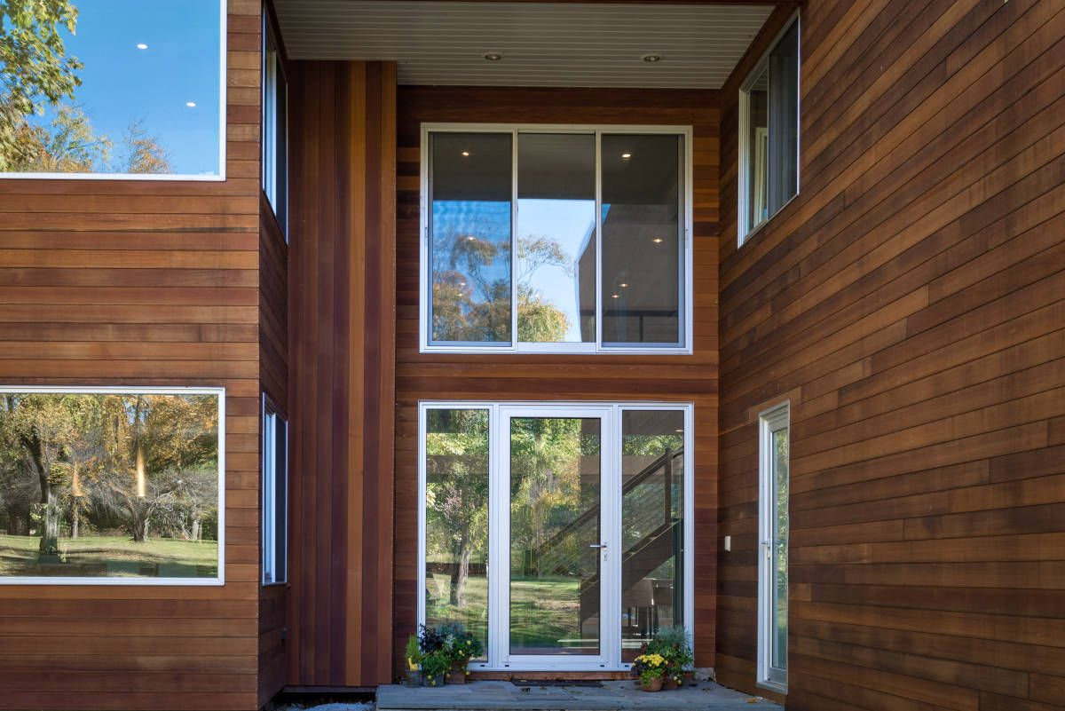 Tongue Groove Fineline Custom Profile Cedar Siding Clear Grade 1x6 Pre Finished Skikens Butternut Tran Cedar Siding House Exterior Cladding Cedar Wood Siding