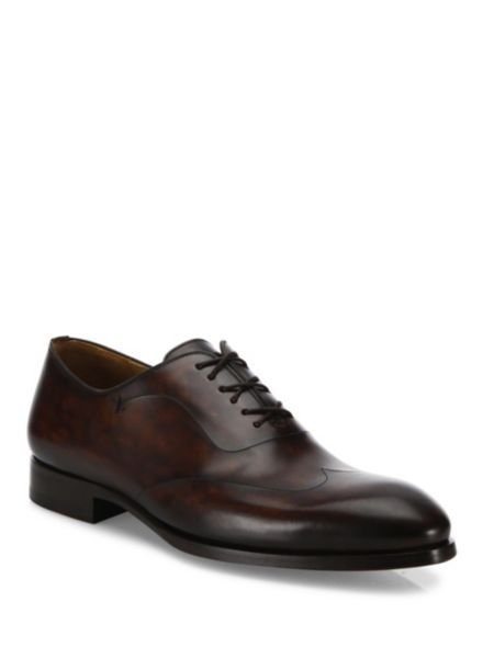 Saks Fifth AvenueCOLLECTION BY MAGNANNI Laser-Cut Lace-Up Dress Shoes