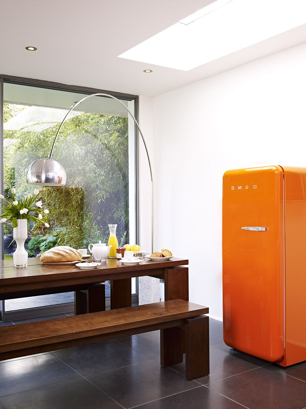 FAB28YO1 | Smeg UK 50\'s style refrigerator with ice compartment in ...