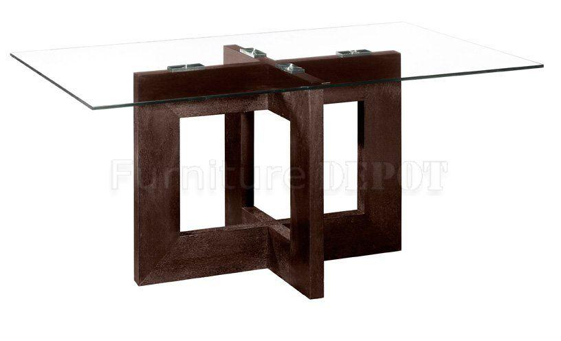 rectangular contemporary glass dinning table | Rectangular ...