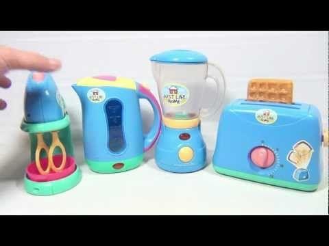 Just Like Home Kitchen Appliance Set Toaster Blender Mixer