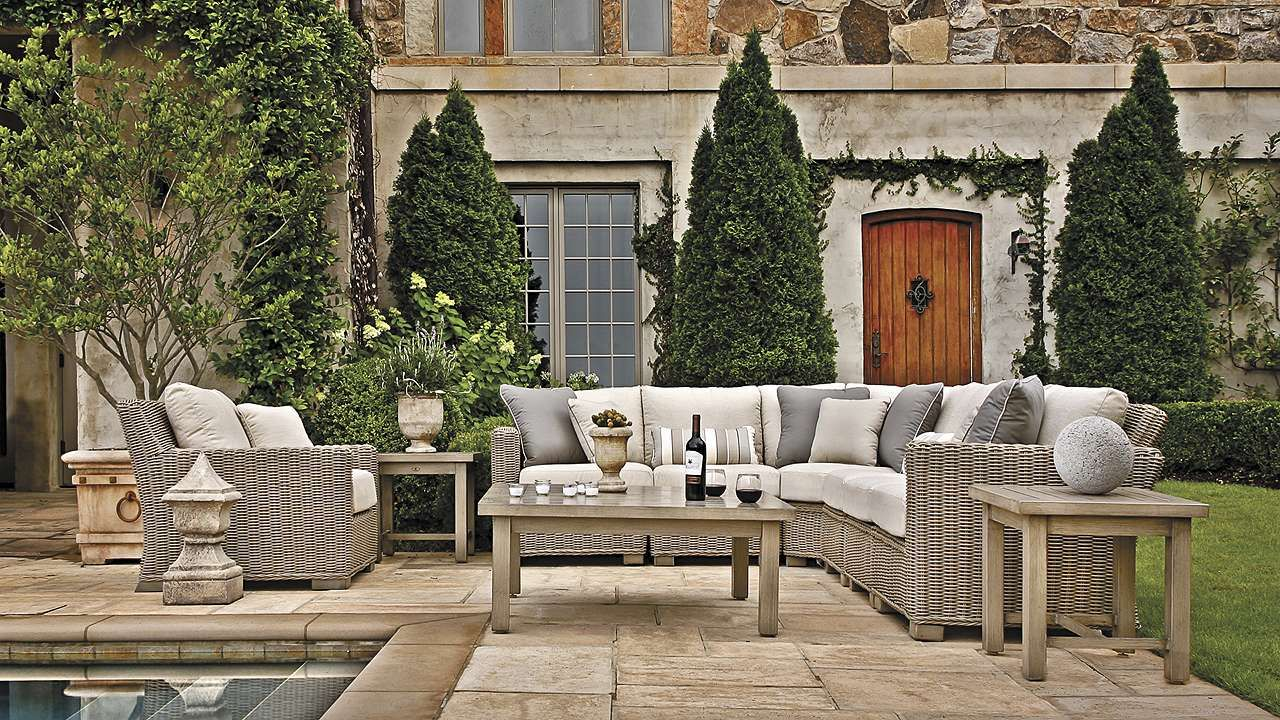 Rustic Seating Collection By Summer Classics Rustic Sofa - Summer classics outdoor furniture