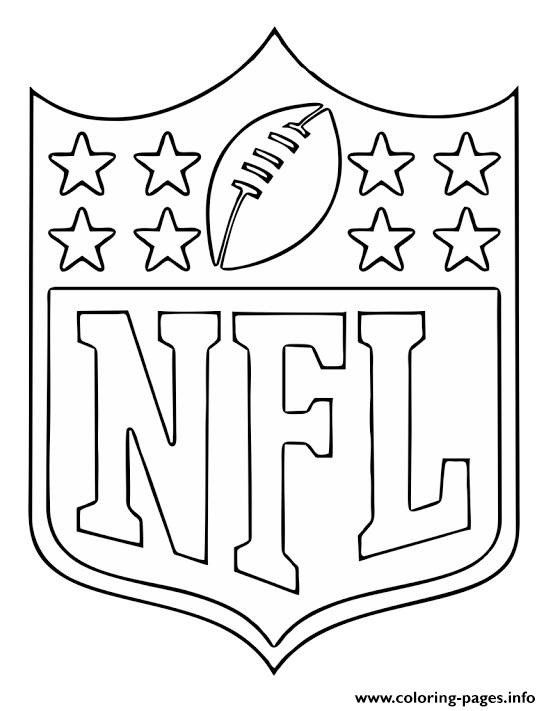 Nfl Logos Coloring Pages Nfl National Football Logo ...
