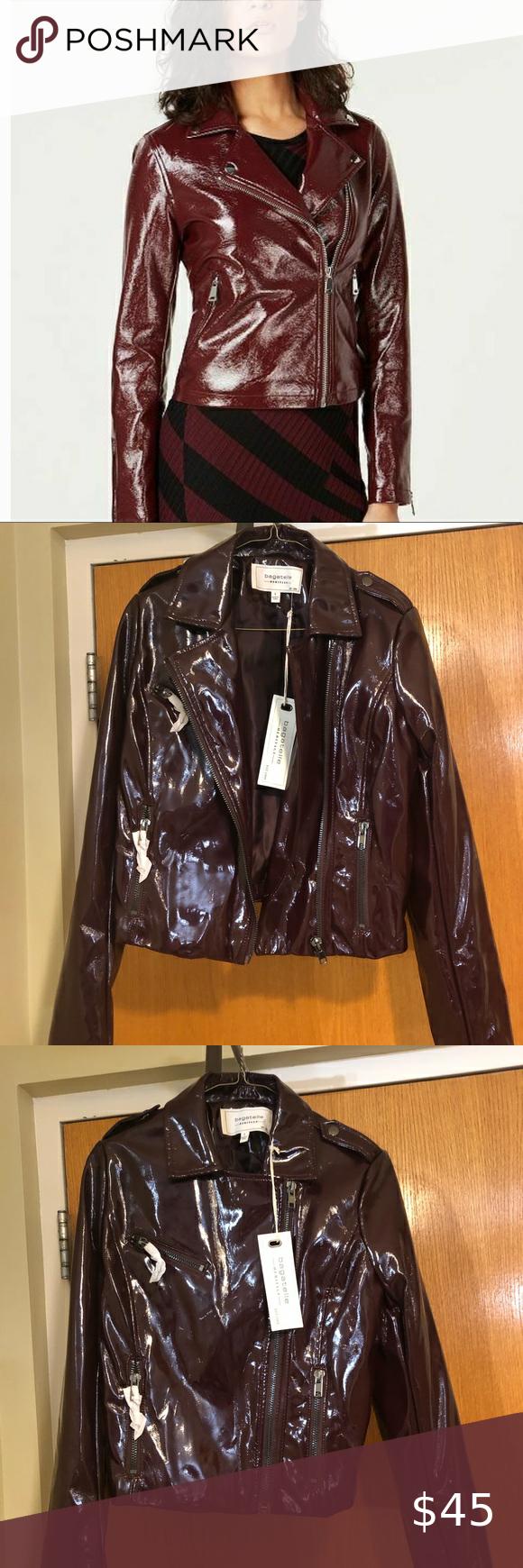 Nwt Bagatelle Vinyl Shiny Jacket Shiny Jacket Fringe Leather Jacket Faux Leather Drape Jacket [ 1740 x 580 Pixel ]