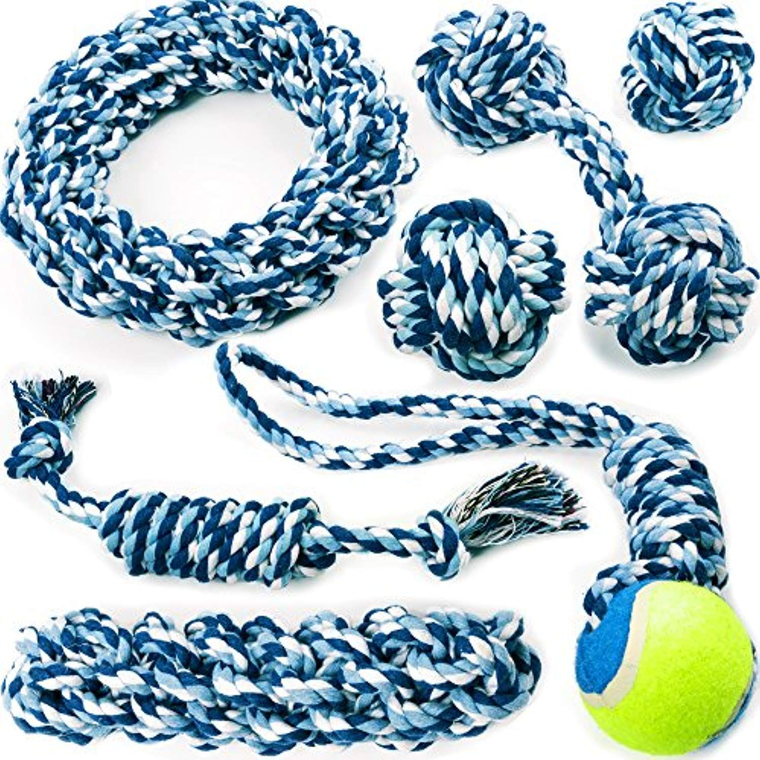 Chewers Play Dog Rope Toy For Medium Dogs And Puppy Teething Tug