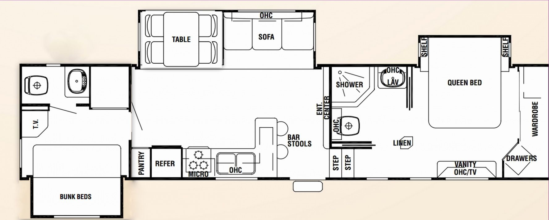 70+ Travel Trailers with Bunk Beds Floor Plans Master