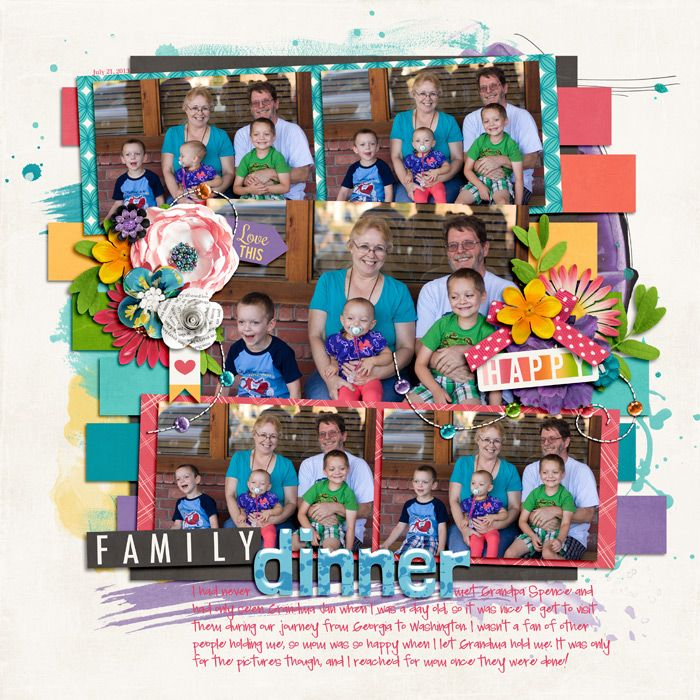 5 image digital scrapbooking layout. credits: True Colors by Jady Day Studio and Kristin Cronin-Barrow, blue alpha from Sorta Fabulous by Meghan Mullens, Meghan Turnidge and Studio Flerg...