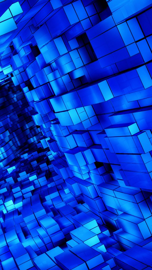 Abstract Blue Cubes Blue Wallpapers Blue Aesthetic Cobalt Blue