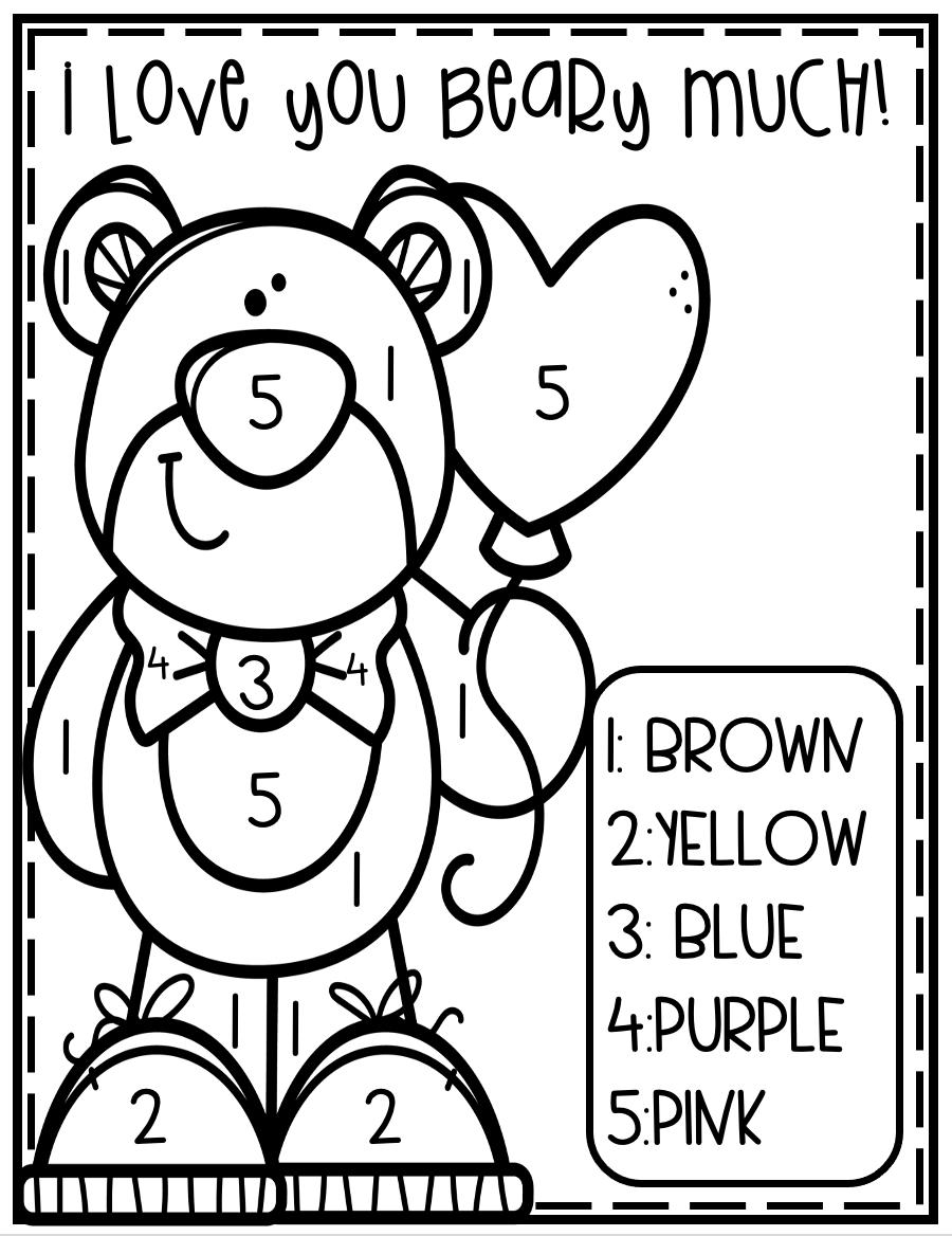 Color By Number Valentines Preschool In 2021 Valentine Lessons Preschool Valentines Worksheets Valentine Worksheets [ 1168 x 900 Pixel ]