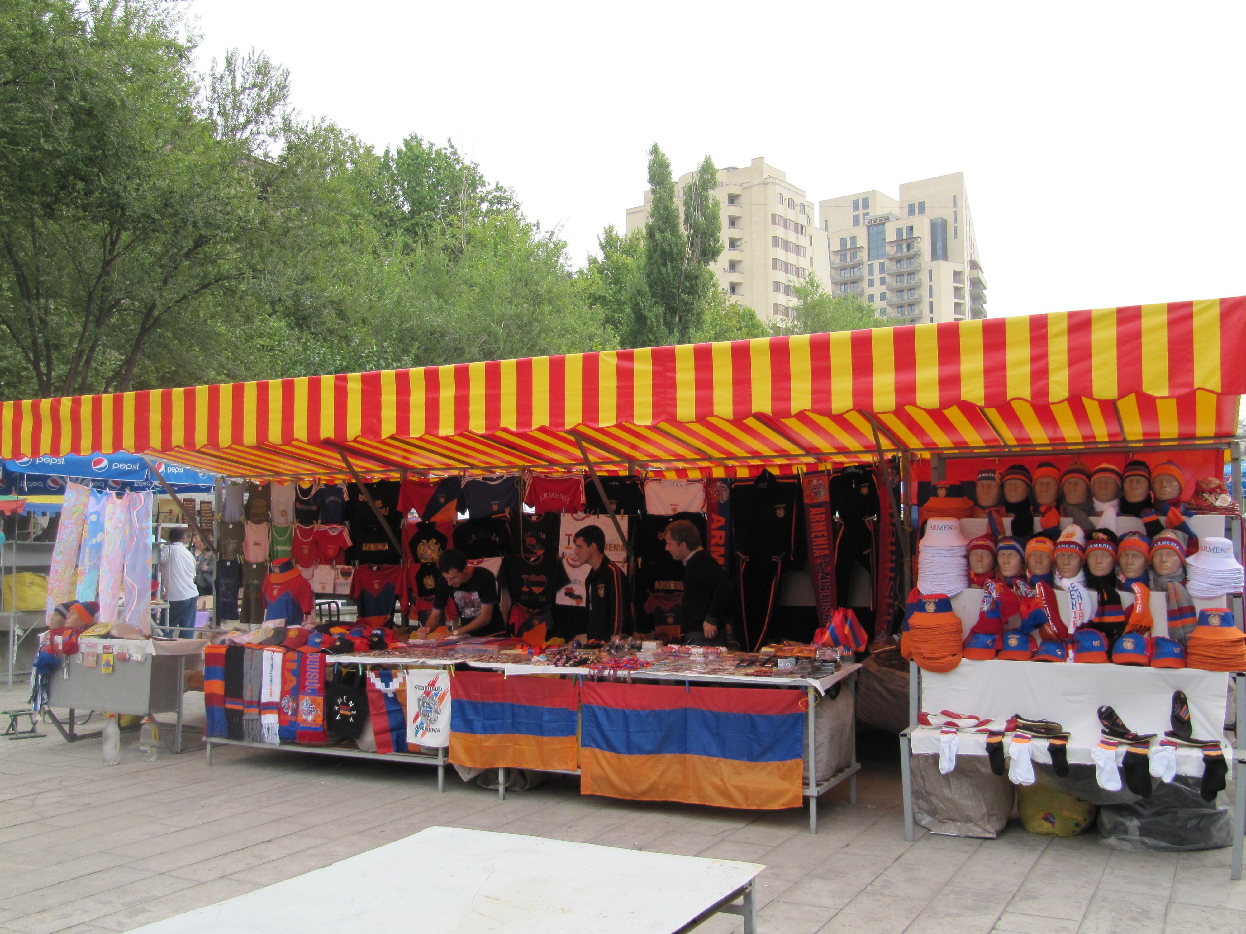 souvenir market Vernisazh in Yerevan, Armenia Yerevan