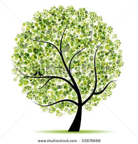 Tree of Life Art | Tree Paintings Images on Spring Tree Green With ...