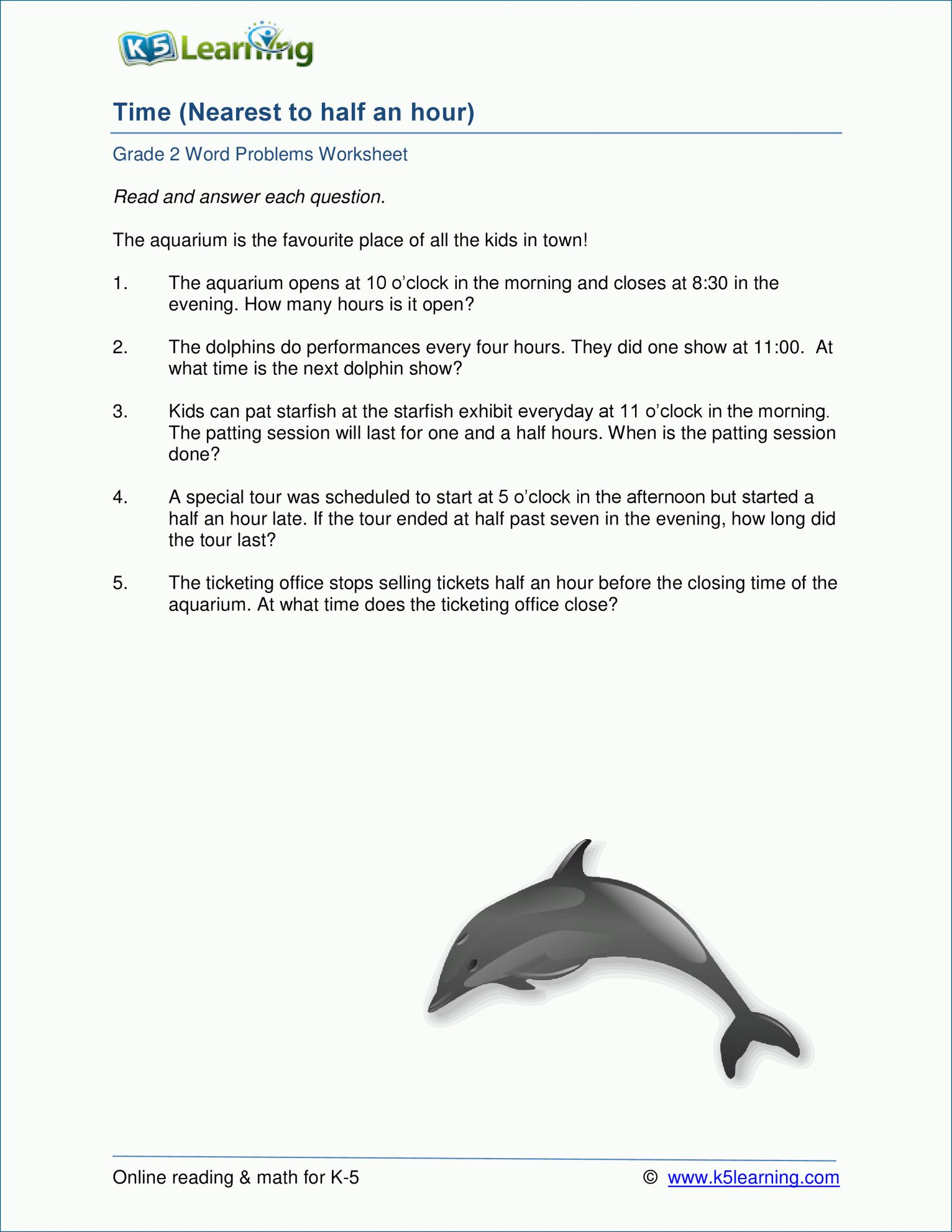 15 Telling Time Word Problems Worksheets For 2nd Grade In