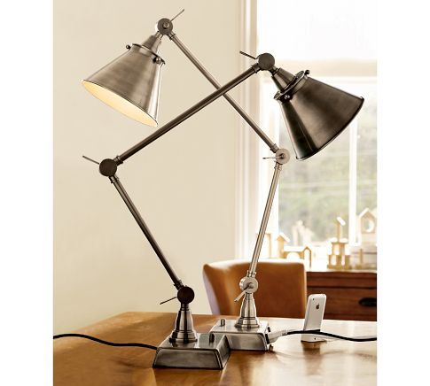 Architect's Smart Technology / Task Table Lamp / from Pottery Barn / Bronze  Finish / Best feature: full dimmer switch - I Have This Lamp And It's Wonderful! Architect's Smart Technology