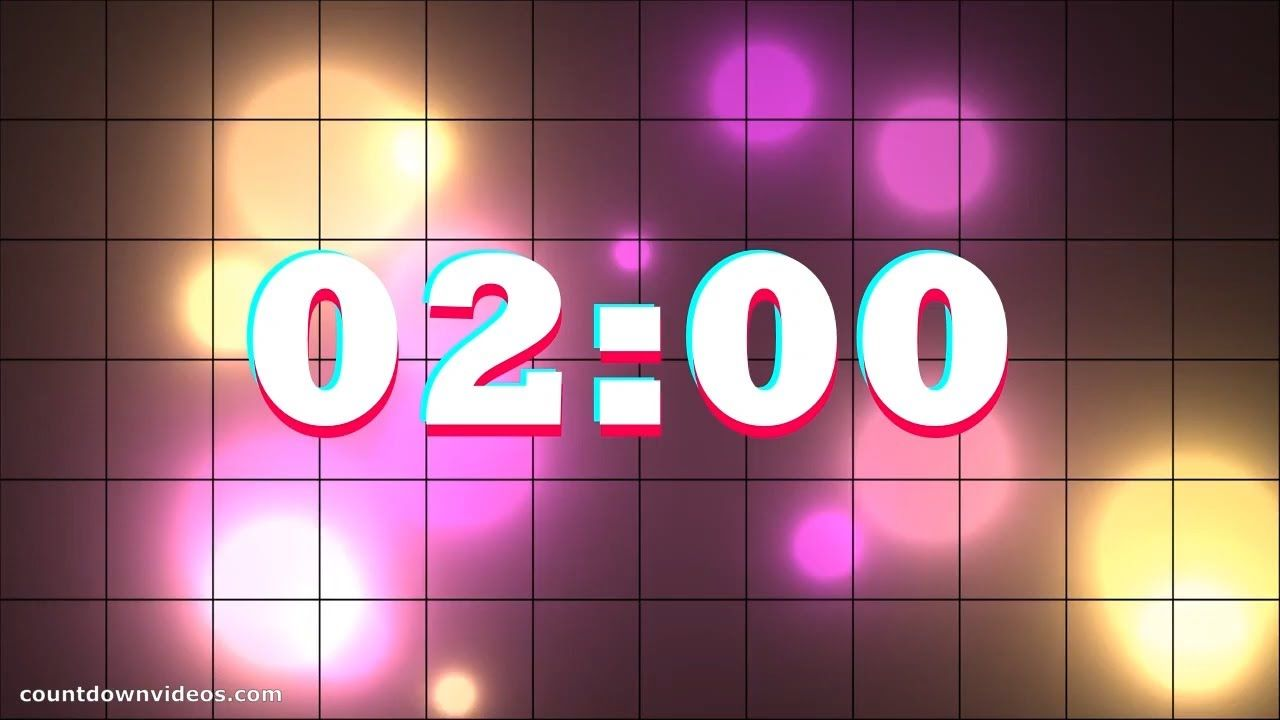 Tiktok 2 Minute Timer Cool Color Effect And Music Color Effect Classroom Timer Classroom Countdown One minute timer with music