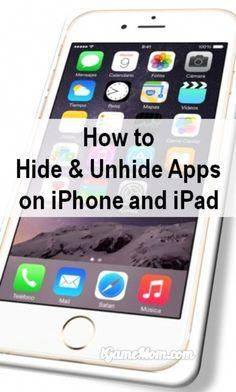 How to Hide Unhide an App Icon on iPAD and iPhone?