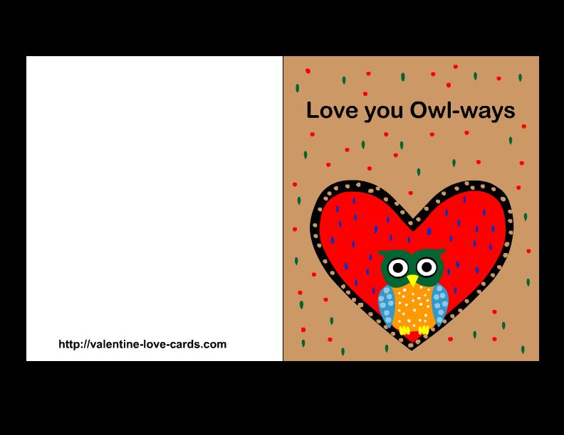 Free Printable Love Card  tyler  Pinterest  Free printable and Owl