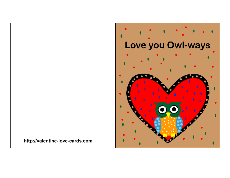 Declarative image throughout free printable love cards
