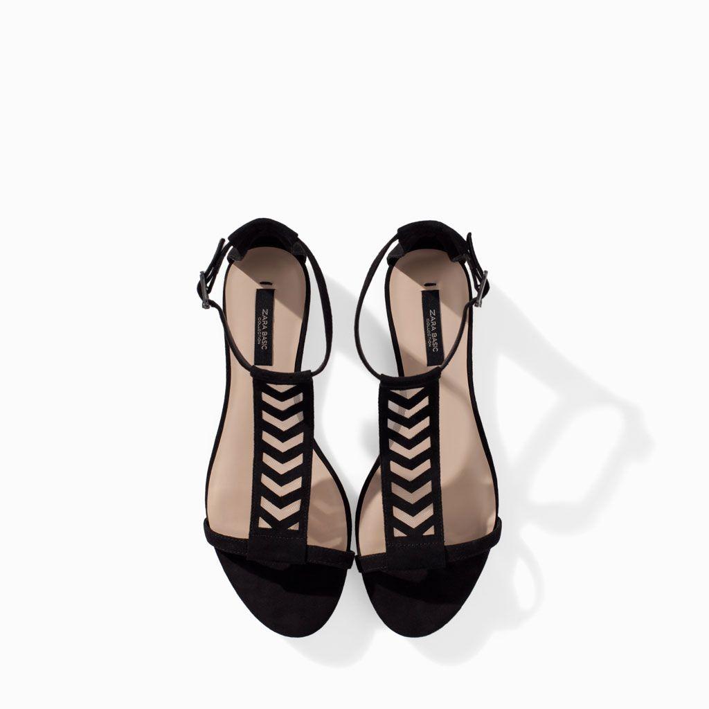 Sandalia Zara RejillaShoes Mujer Combinada Plana Sandalias xQhdtBCsr