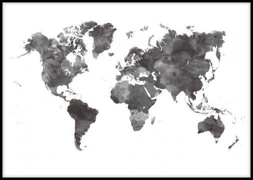 carte du monde noir et blanc design Pin on Poster Design