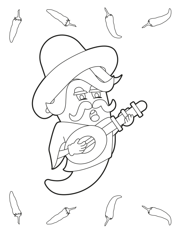 Free Printable Cartoon Chili Pepper Coloring Page Download It At Https Museprintables Com Download Coloring Page Cartoon C Coloring Pages Chili Pepper Chili