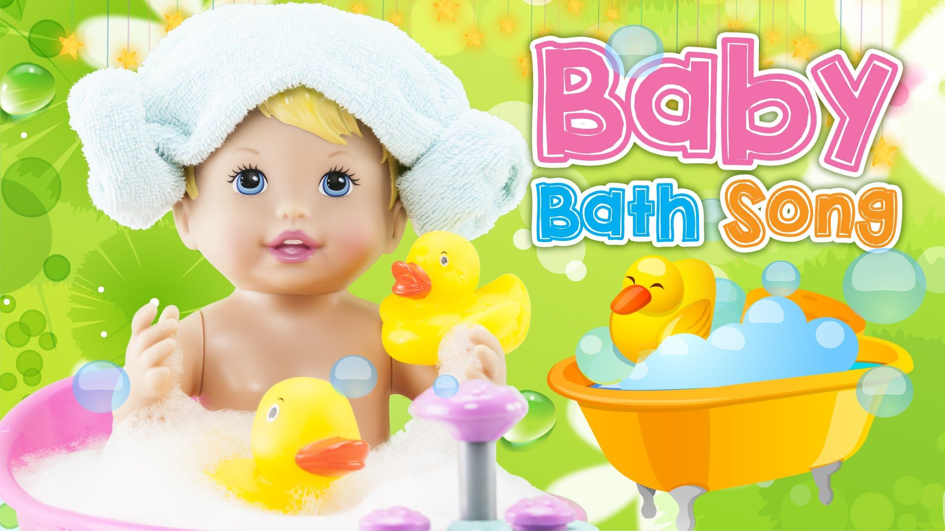 Baby Children Nursery Rhyme Song Hd New Bath Song How To Bath Baby Doll Bathtime Toy