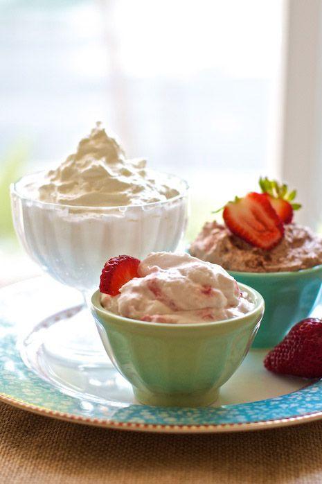Easy Homemade Whipped Cream! Vanilla, Chocolate & Strawberry on FamilyFreshCooking.com © MarlaMeridith.com