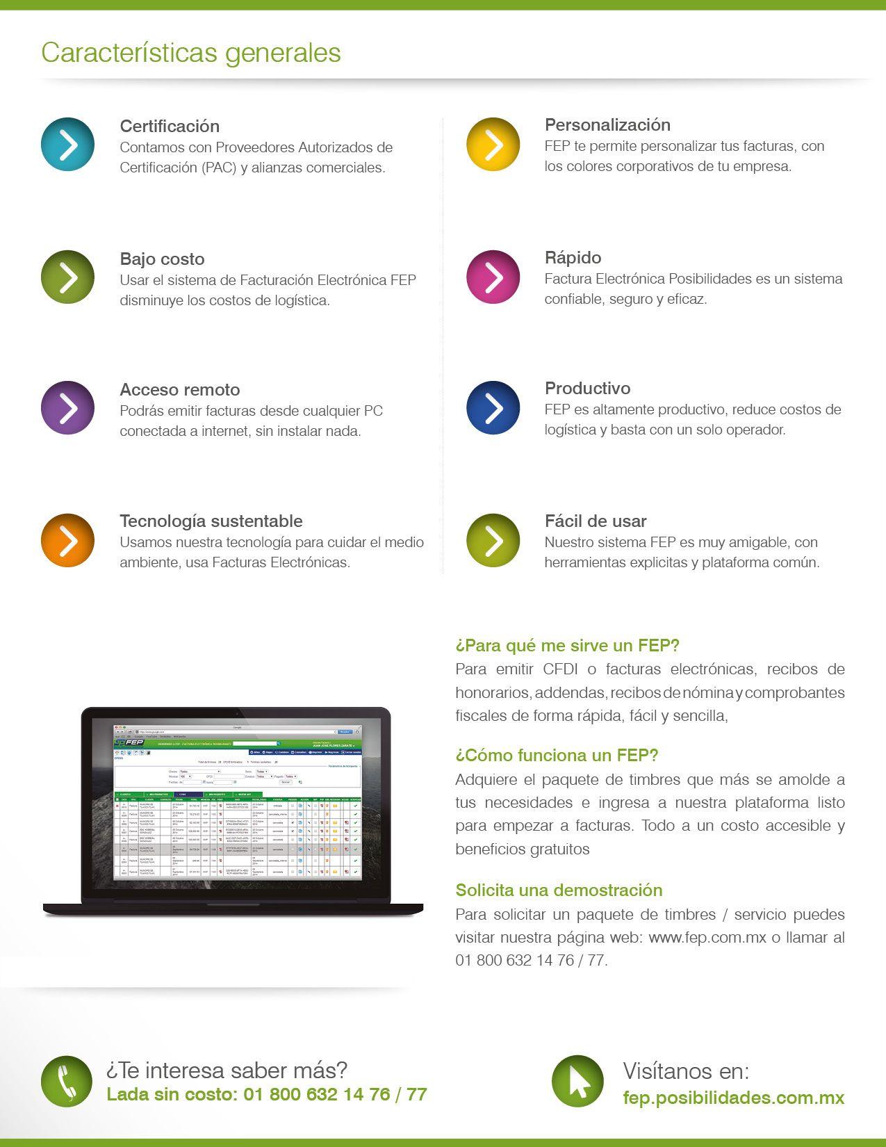 FEP-m Factura Electrónica Posibilidades Multiempresa PDF: http://bit ...