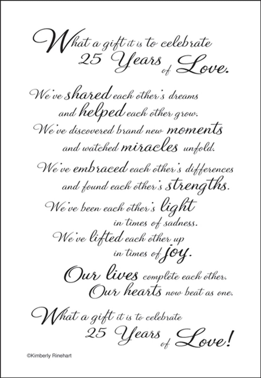 A Poem For A Page Collection 25th Anniversary 5 X 7 Scrapbook Sticker Sheet By It Takes Two 25th Wedding Anniversary Quotes 25th Anniversary Quotes Wedding Anniversary Quotes