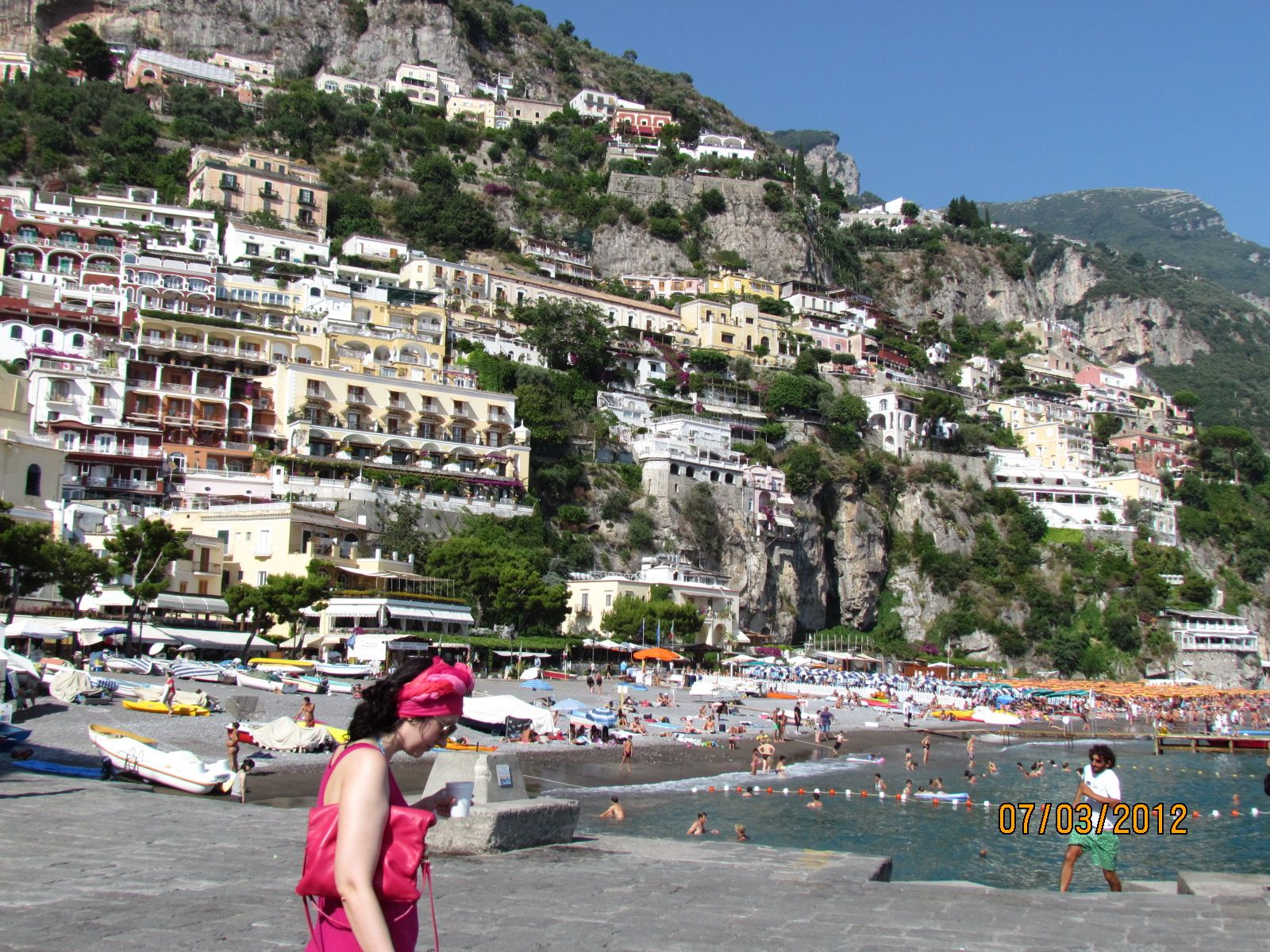 Lady in red. Positano.