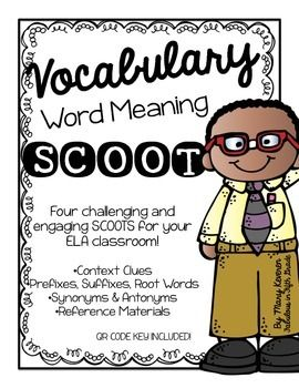 Vocabulary and Word Meaning SCOOT - QR Codes Included