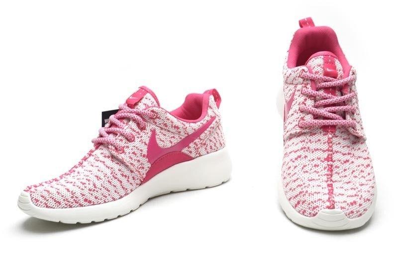 ... nouveau mode nike roshe courir 350x yeezy boost femmess collégial  entraînement chaussures rose blanc