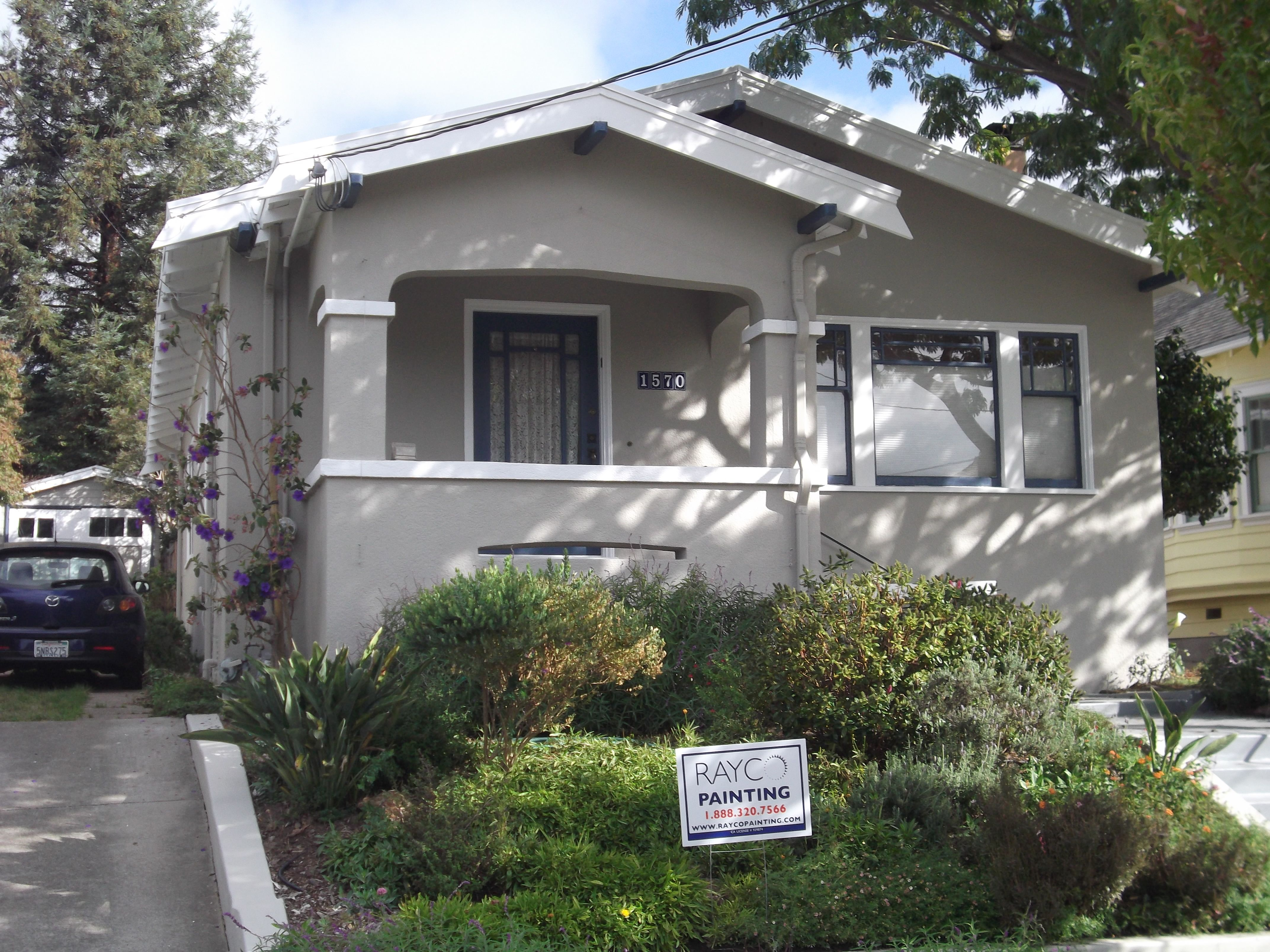 Exterior Painting Scheme - Kelly Moore Malibu Beige and Swiss Coffee ...