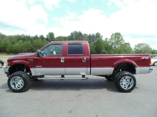 just lifted 2004 ford f-350 super duty xlt crew cab 4x4 long bed srw