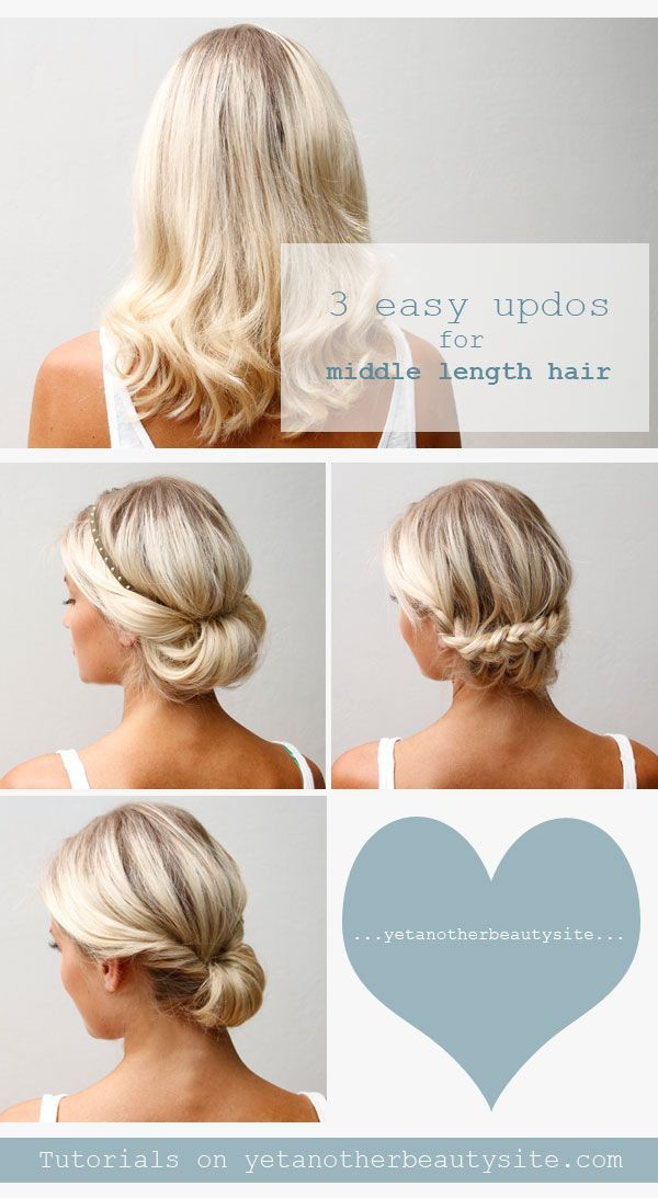 Tremendous 1000 Images About Easy Medium Length Wedding Hairstyles On Hairstyles For Women Draintrainus