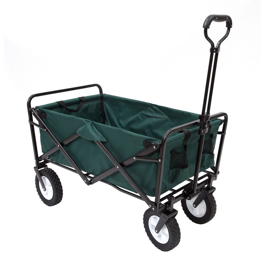 Green Folding Wagon Collapsible Garden
